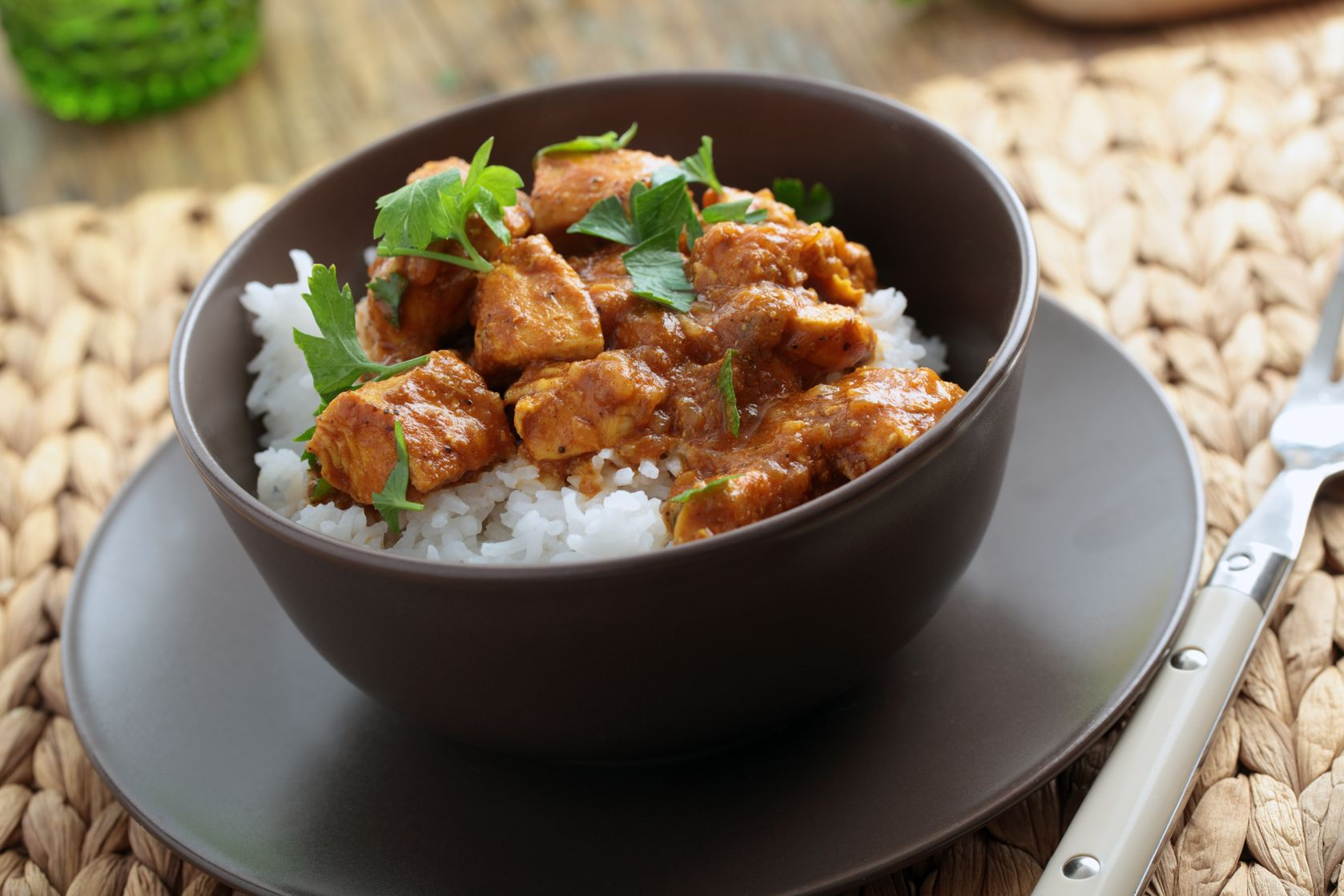 In cucina_pollo al curry