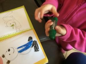come disegnano i bambini di tre anni